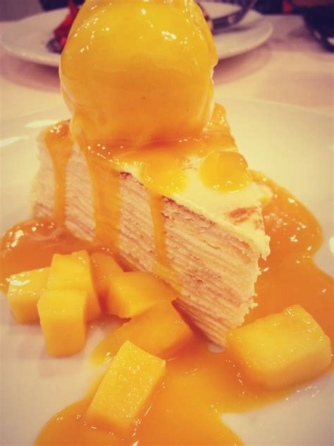 mango crepes cake super yum crepe cakes crepe cake