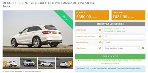 A big part of our site is helping you find the best deals available in your area. In Review; Mercedes GLC Coupe 220d 4Matic Sport Premium 9G-Tronic (Diesel/ Auto) - CarLease UK