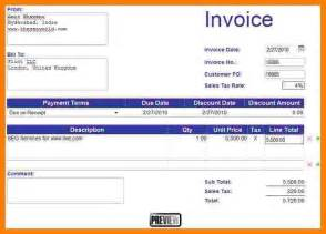 Creating An Excel Template 6 How To Create An Invoice In Excel Daily Chore Checklist