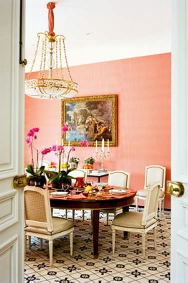 glam pad  romantic pink dining rooms