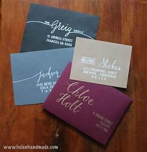 custom hand addressed envelopes wedding party With wedding invitation envelope writing