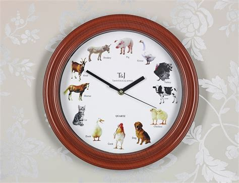 farmyard animal sounds analogue kitchen wall clock ebay