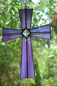 Lavender Stained Glass Cross