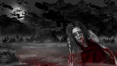 Vampire Scary Wallpapers Desktop Creepy Horror Spooky
