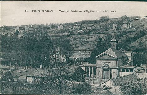 carte postale sur le port marly port marly