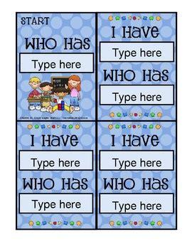 card template math theme   magee tpt