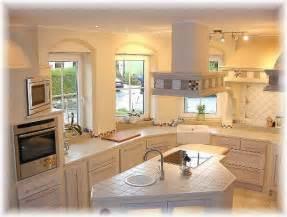 wandgestaltung kche farbe gemauerte küche