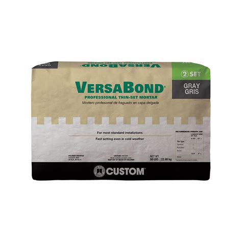 mortar for tile custom building products versabond gray 50 lb fortified