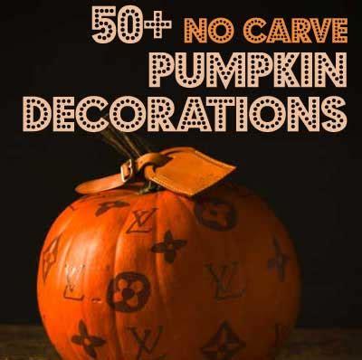 pumpkin design ideas without carving 50 no carve pumpkin decorating ideas