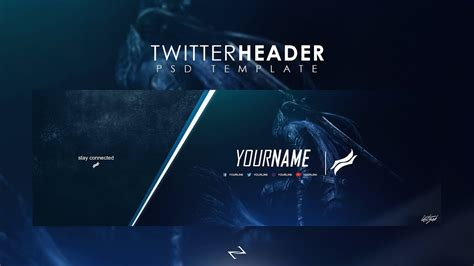 twitter header photoshop template free 2017 free professional gaming twitter header psd template 2017