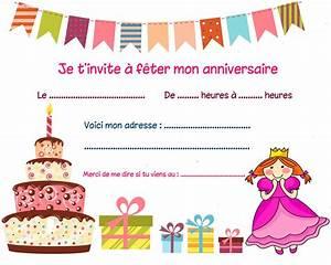 Invitation Anniversaire Fille 9 Ans : carte invitation anniversaire fille 4 ans carte ~ Melissatoandfro.com Idées de Décoration