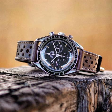 Brown Horween Le Mans Racing Watch Strap | B & R Bands