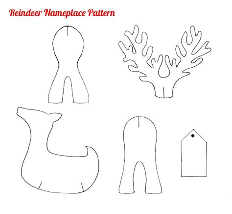 the gallery for gt printable reindeer head pattern