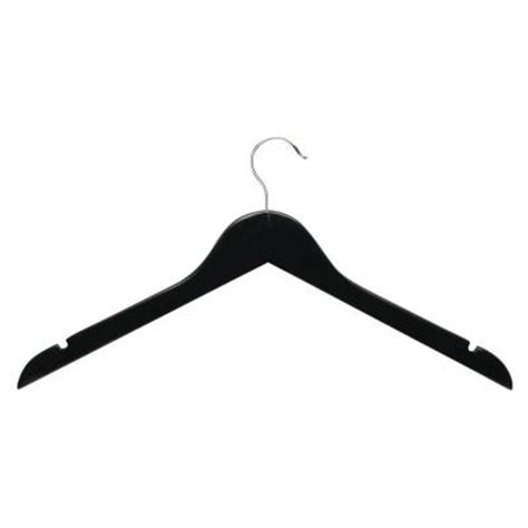 Honey Can Do Ebony Wood Shirt Hangers (10 Pack) HNGZ01526