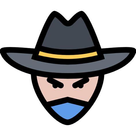 people user head avatar western cowboy bandit