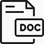 Icon Word Doc Document Library Icons Material