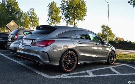 The cla shooting brake is always a class act, whatever the venue. Mercedes-Benz CLA 45 AMG Shooting Brake OrangeArt Edition - 22 August 2017 - Autogespot