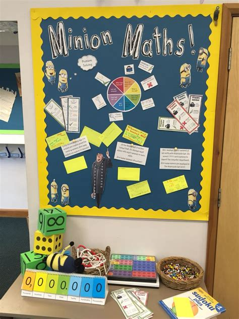 Minion Maths Problem Solving Display  Movies Minions  Pinterest  Maths Display, Ks1 Maths