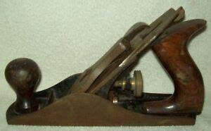 vintage antique stanley bailey   wood smooth plane