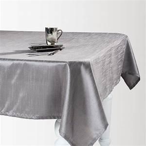 Nappe Rectangulaire Grise : nappe en tissu grise 140 x 250 cm lido maisons du monde ~ Teatrodelosmanantiales.com Idées de Décoration
