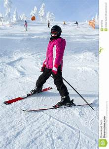 Young girl skiing stock photo. Image of summit, snow ...