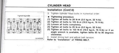 small engine service manuals 2004 infiniti i head up display ca18det headtorque specs