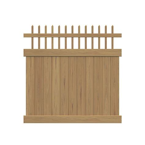 cypress home depot veranda tennessee 6 ft h x 6 ft w cypress vinyl fence kit 73014492 the home depot