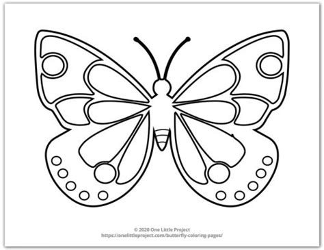 butterfly coloring pages  printable butterflies   project