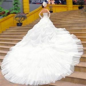 Long train wedding dress from china nationtrendzcom for Long white wedding dresses