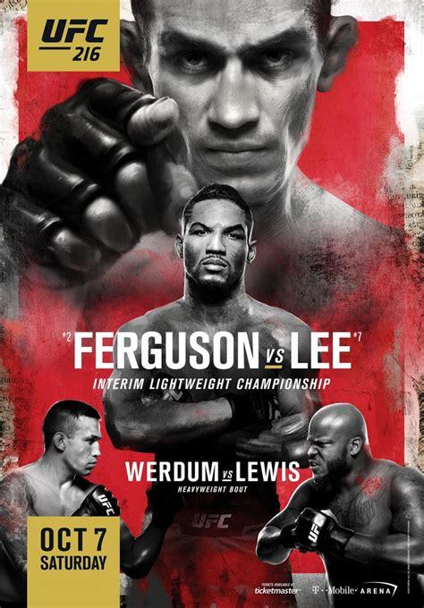 mmaweeklycom ufc  ferguson  lee fight poster