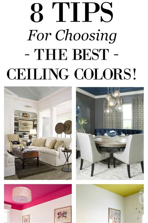 8 tips for choosing ceiling colors setting for four