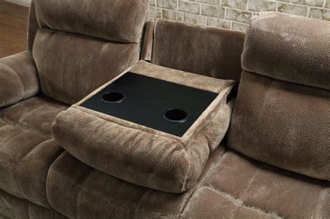 Loveseat Console by Brown Fabric Reclining Sofa A Sofa Furniture