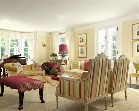 traditional living room philadelphia cream paint color