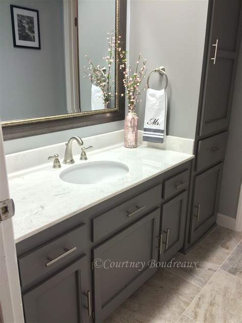 grey and white bathroom behr paint using color