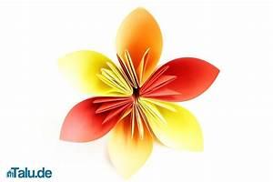 Blumen Basteln Vorlage : origami blume falten faltanleitung f r eine papierblume ~ Frokenaadalensverden.com Haus und Dekorationen