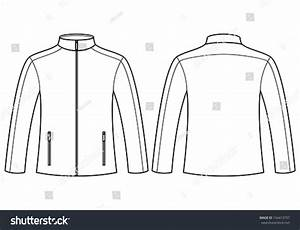 jacket template front back stock vector 154413797 With sports jacket template
