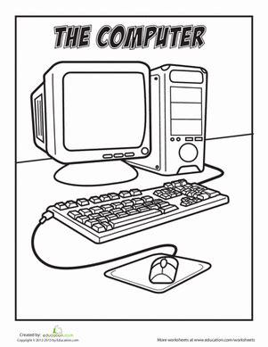 computer worksheet education