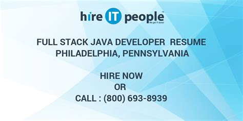 full stack java developer resume philadelphia