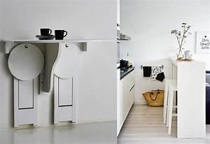 5 idees gains de place pour la cuisine joli place With idee deco cuisine avec lit pliant