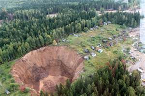 Plunge A Sink by Giant Sinkhole In Perm Region Of Russia Growing Wider And