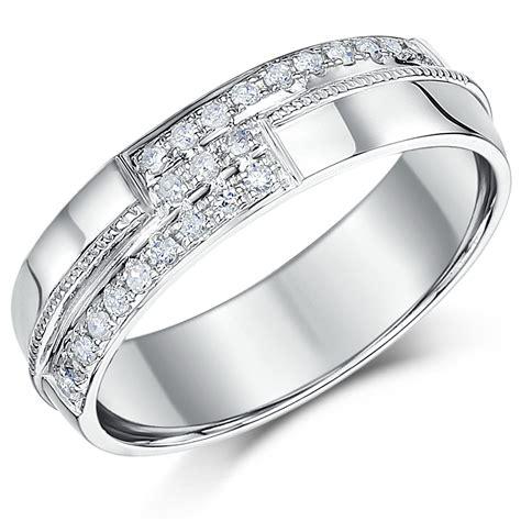 luxury 9 carat white gold wedding rings matvuk com