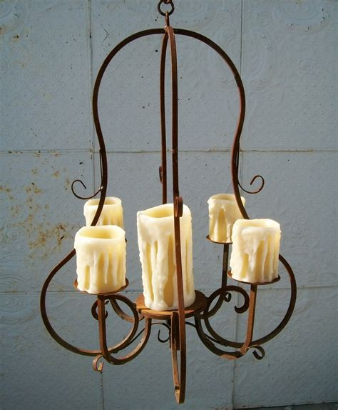 Outdoor Candle Chandeliers Wrought Iron by Real Candle Wrought Iron Carriage Chandelier Outdoor