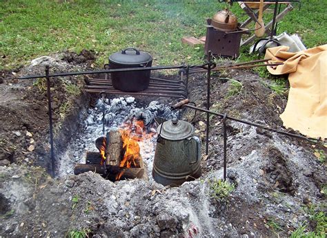 cooking campfire fire camp pans pots rods write comment april