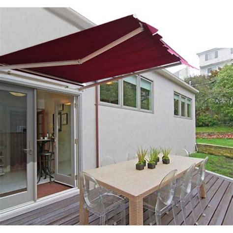 outsunny    ft manual retractable sun shade patio awning walmartcom