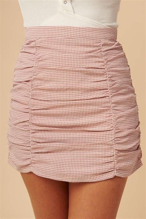 checkered skirt      hoping