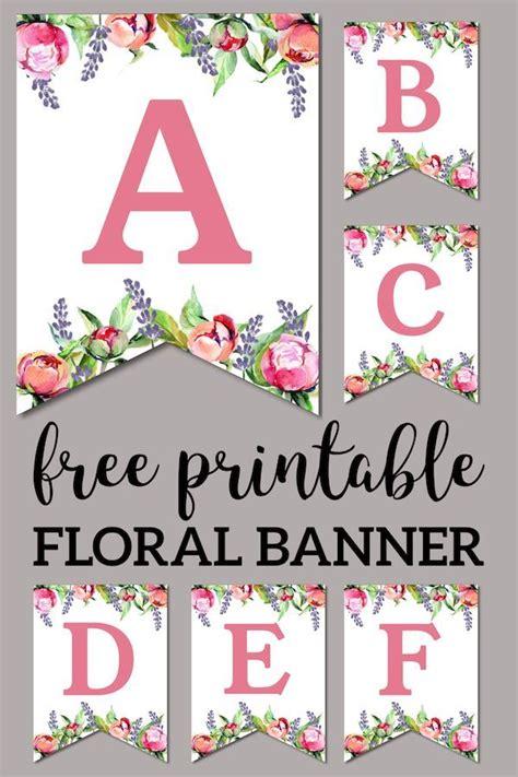 floral  printable alphabet letters banner paper