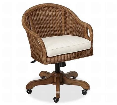 desk chair charming wingate rattan swivel desk chair source information