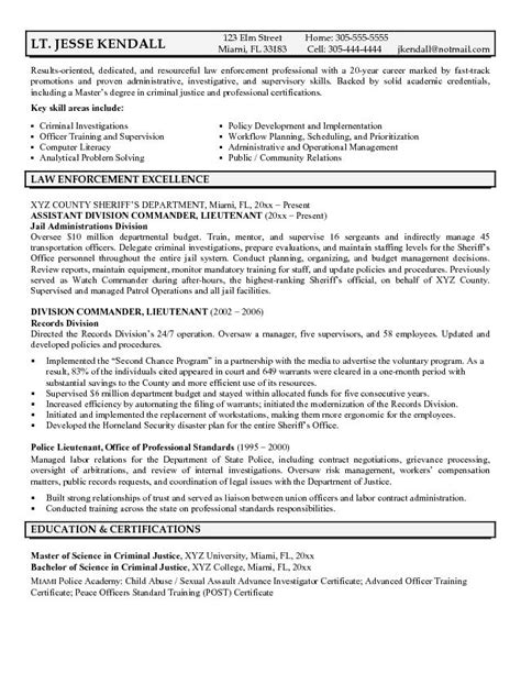 officer resume exle resume template easy