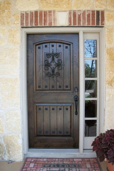 rustic wood doors knotty alder estancia vgroove