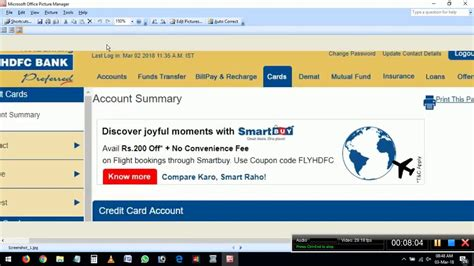 Access the credit card tab and choose the option credit card payment. HDFC Bank Credit Card Bill Payment Online - Pay through HDFC Bank NetBanking - YouTube